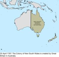 Australia Map 1850.Territorial Evolution Of Australia Wikipedia