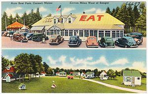 Carmel, Maine - 1930s postcard