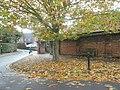 Autumn at the entrance to St Faith's Church Hall - geograph.org.uk - 1562264.jpg
