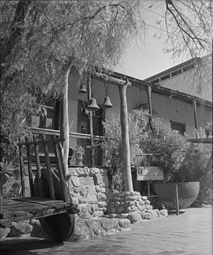 Avila Adobe - Avila Adobe in 1956