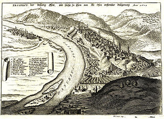 Siege of Buda (1684) - Drawing of the Siege of Buda in 1684