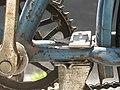 Bäckerrad von 1955, Tretlager mit extra-langem Hinterbau für Post-Ständer, Rahmendetail, 06.08. 2011. - panoramio.jpg