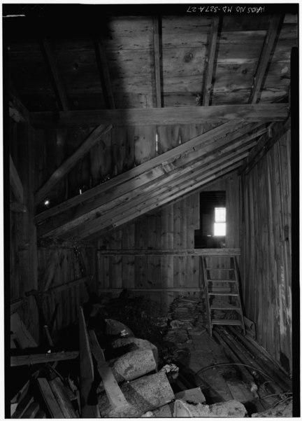 File Barn Interior Upper Floor Looking Northeast