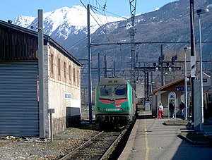 SNCF Class BB 36000 - E436 numbered locomotive at the Gare de Saint-Jean de Maurienne - Vallée de l'Arvan, near the Italian border