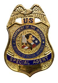 Special agent simple english wikipedia the free - United states department of the interior bureau of indian affairs ...