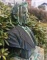 Baard Haugland memorial from 1919 in Leirvik, Stord, Norway. Photo 2018-03-14 dPortrait bust by Torleiv Agdestein.jpg