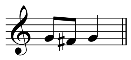 Motive from many of Bach's works including the first movements of the third and sixth Brandenburg Concertos and the third viol da gamba sonata. Play  (help*info) Bach - Brandenburg motive.png