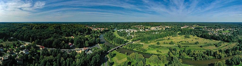 Muskauer park (Fürst-Pückler-park), Bad Muskau Aerial Panorama