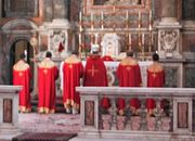 Armenian Divine Liturgy (Sourp Badarqě) celebrated by a bishop, assisted by deacons
