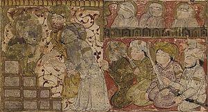 Election of Uthman - The election of Uthman, from Balami's Tarikhnama