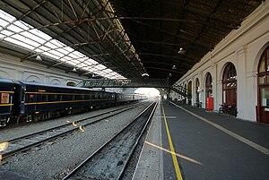 Ballarat railway station - Eastbound view from Platform 1 in December 2007