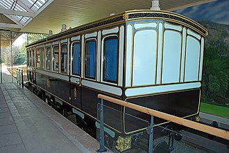 Deeside Railway - Reproduction of a royal carriage used by Queen Victoria at Ballater railway station