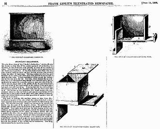 Electoral fraud - A specialised ballot box used to assist ballot stuffing, featured in Frank Leslie's Illustrated Newspaper in 1856.