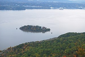 Pollepel Island - The island and castle viewed from atop Breakneck Ridge