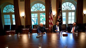 President Barack Obama meets with Pakistani Pr...