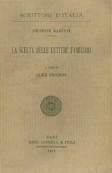Giuseppe Marc'Antonio Baretti: Scelta delle lettere familiari