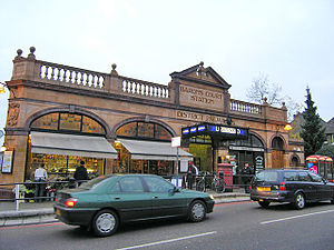 Barons Court tube station - Station entrance