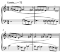 Bartok, Chromatic Invention, Mikrokosmos, vol. III, no. 91, mm. 1-4.png