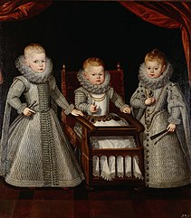 The children of Philip III of Spain (Ferdinand, Alfonso and Margarita)
