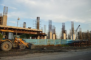 Barun Sengupta Metro Rail Station Under Construction - EM Byepass - Kolkata 2017-07-15 1511.JPG
