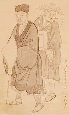 Basho by Morikawa Kyoriku (1656-1715).jpg