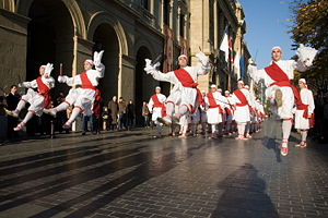 Basque dance - Dancers in Donostia