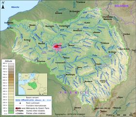 la seine et ses affluents carte Seine — Wikipédia
