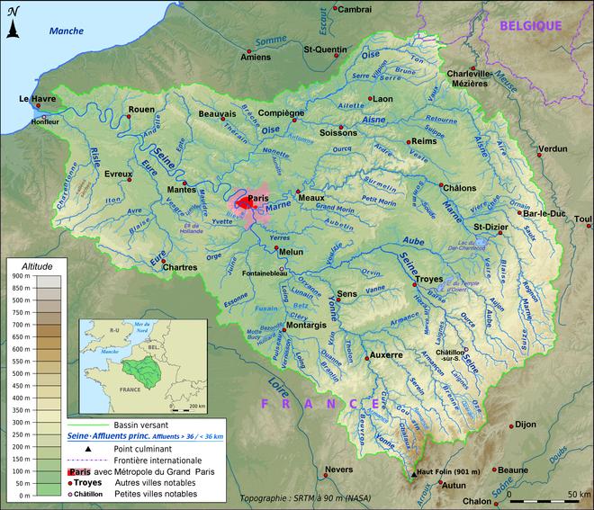 Cartina Di Parigi E Dintorni.Senna Wikipedia