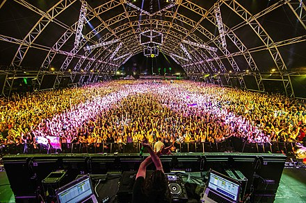 Fans attend a performance by Bassnectar at the Sahara tent in 2013 Bassnectar Live at Coachella Wknd 2.jpg