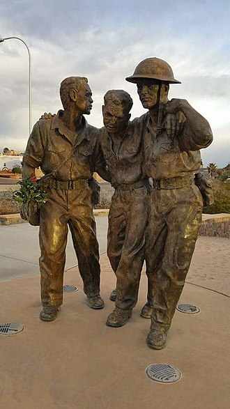 Bataan Death March - Bataan Death March Memorial featuring Filipino and American soldiers, Las Cruces, New Mexico