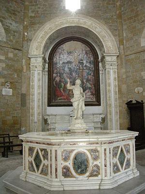 Volterra Baptistery of San Giovanni - Baptismal font by Giovanni Vaccà