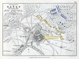 Battle of Hanau - Plan of the Battle of Hanau