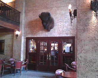 Ted's Montana Grill - Entrance to Bozeman Ted's bar area from Baxter Hotel lobby