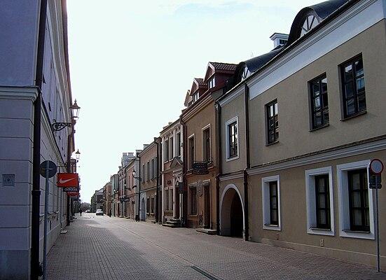 Ulica Bazyliańska w Zamościu