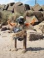 Beach sculpture Spurn Point - geograph.org.uk - 484378.jpg