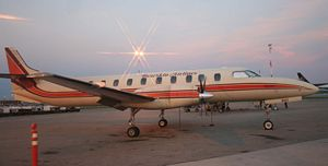 Bearskin Airlines - Bearskin Metroliner at dusk