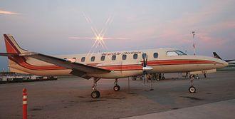 Bearskin Airlines - Bearskin Metroliner at dusk