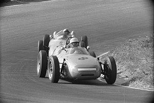 1961 Dutch Grand Prix - Carel Godin de Beaufort driving the Porsche 718 in the 1961 Dutch Grand Prix