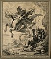 Bellerophon slaying the Chimera; allegorizing the defeat of Wellcome V0007709.jpg