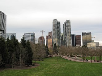 Downtown Bellevue - Skyline from Downtown Park