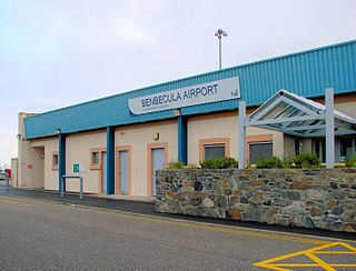Benbecula Airport airport on the island of Benbecula in the Outer Hebrides in Scotland