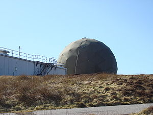 RRH Benbecula - Radar dome at RRH Benbecula