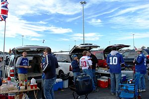 Tailgate party - A tailgate party