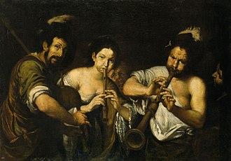 Concert - Concert, by Italian baroque artist Bernardo Strozzi (circa 1630/1631)