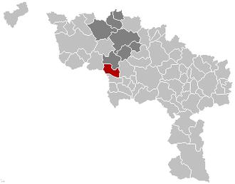 Bernissart - Image: Bernissart Hainaut Belgium Map