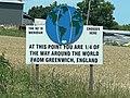 Bethalto Illinois 90 Degree West Meridian Sign.jpg