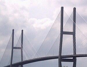 Sidney Lanier Bridge - The two pylons of the Sidney Lanier Bridge