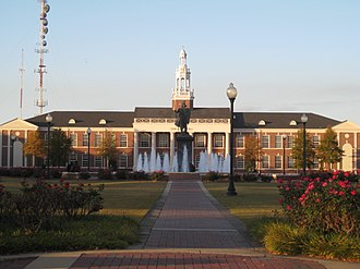 Troy University - Bibb Graves from University Avenue on the Troy University campus