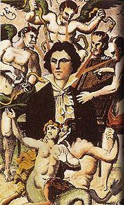 Φανταστικό πορτραίτο του ντε Σαντ από τον H. Biberstein, δημιουργημένο το 1830