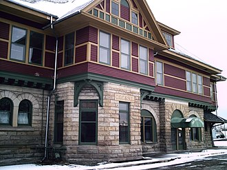 National Register of Historic Places listings in Crawford County, Ohio - Image: Big four depot
